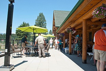 Grand Opening Day at the clubhouse patio